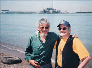 CEA Founder Ric Coronado and David Suzuki at Ojibway Shores, 1999.